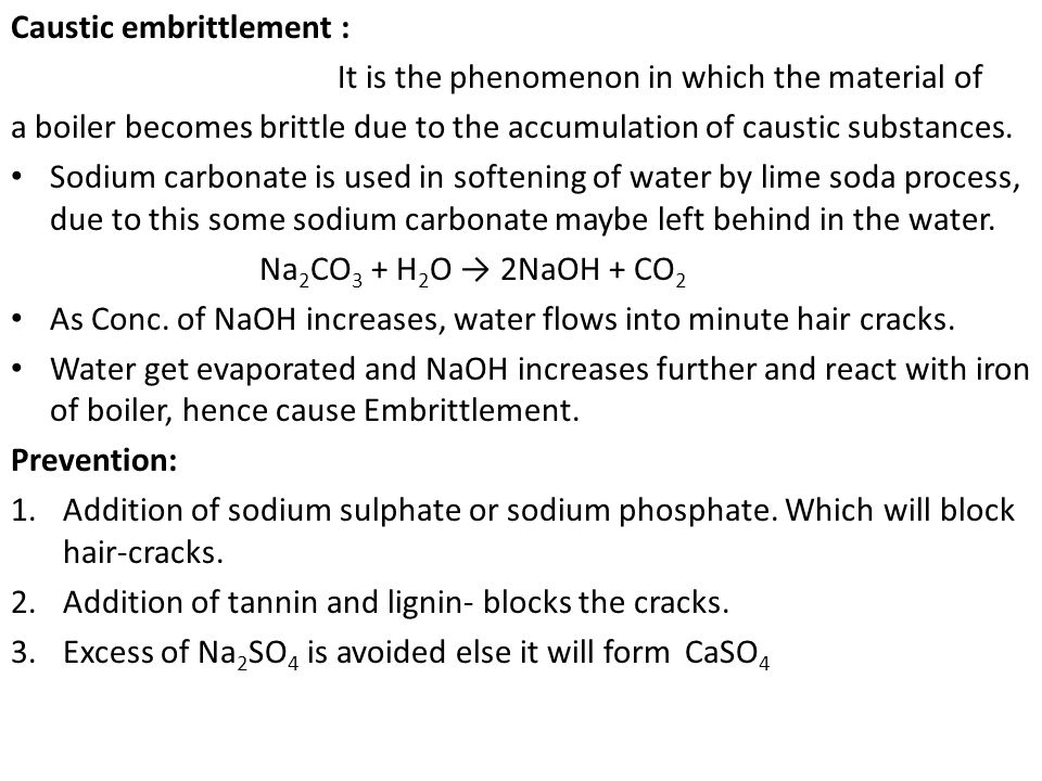 Caustic embrittlement :