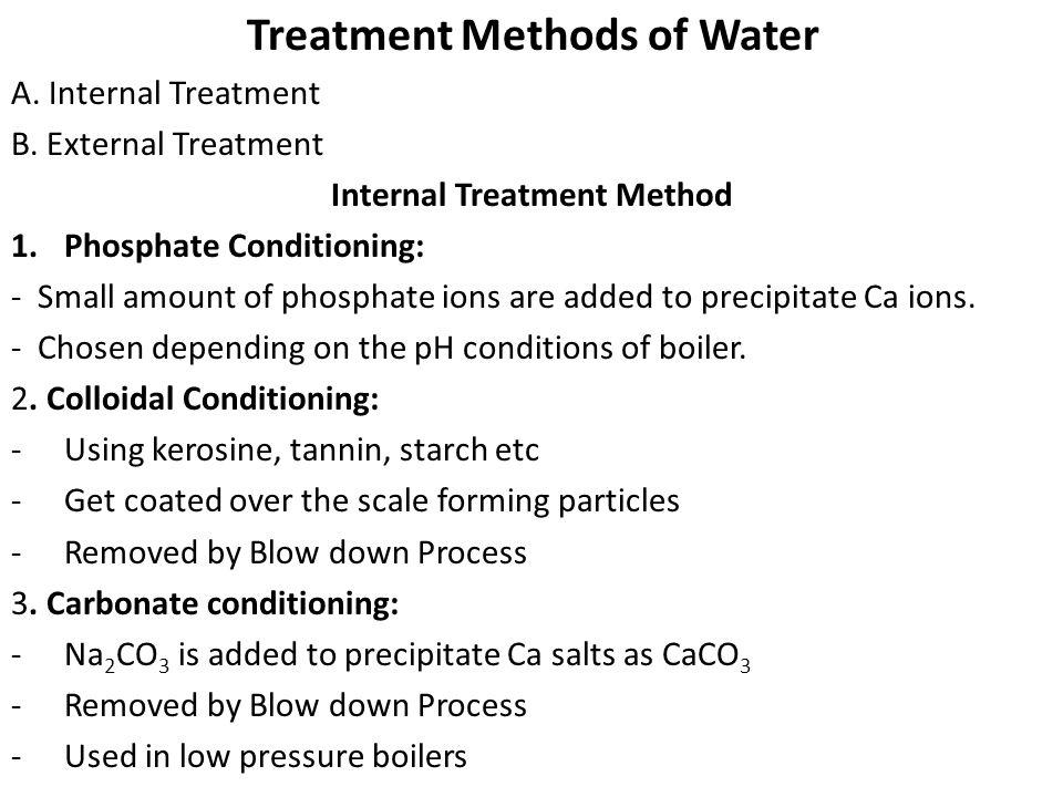 Internal Treatment Method