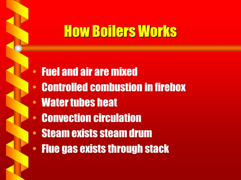 How Boilers Works Fuel and air are mixed