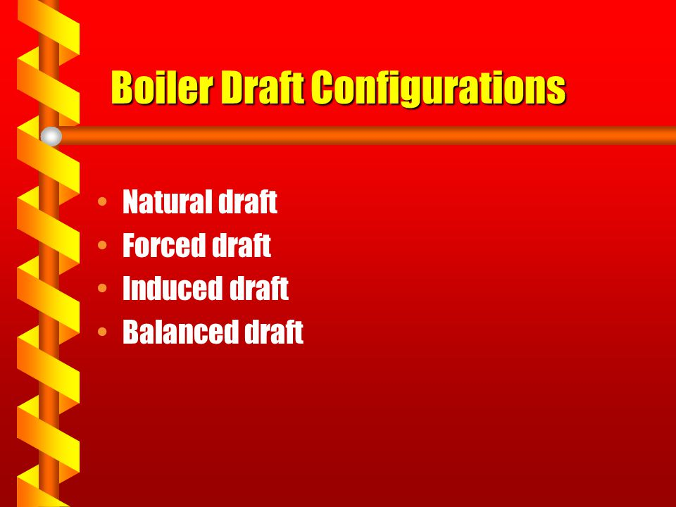 Boiler Draft Configurations