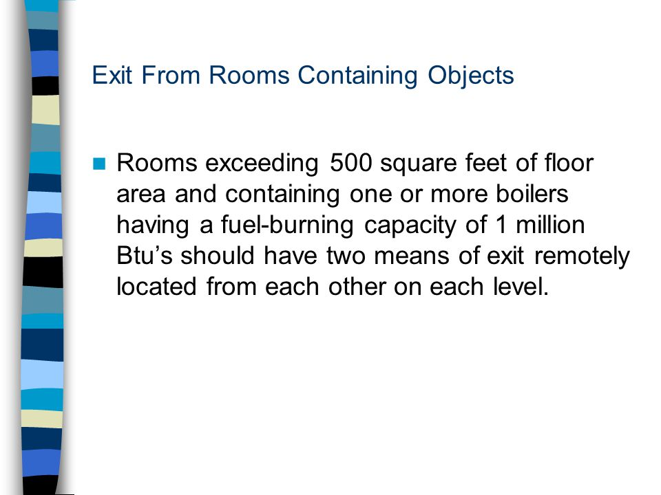 Exit From Rooms Containing Objects