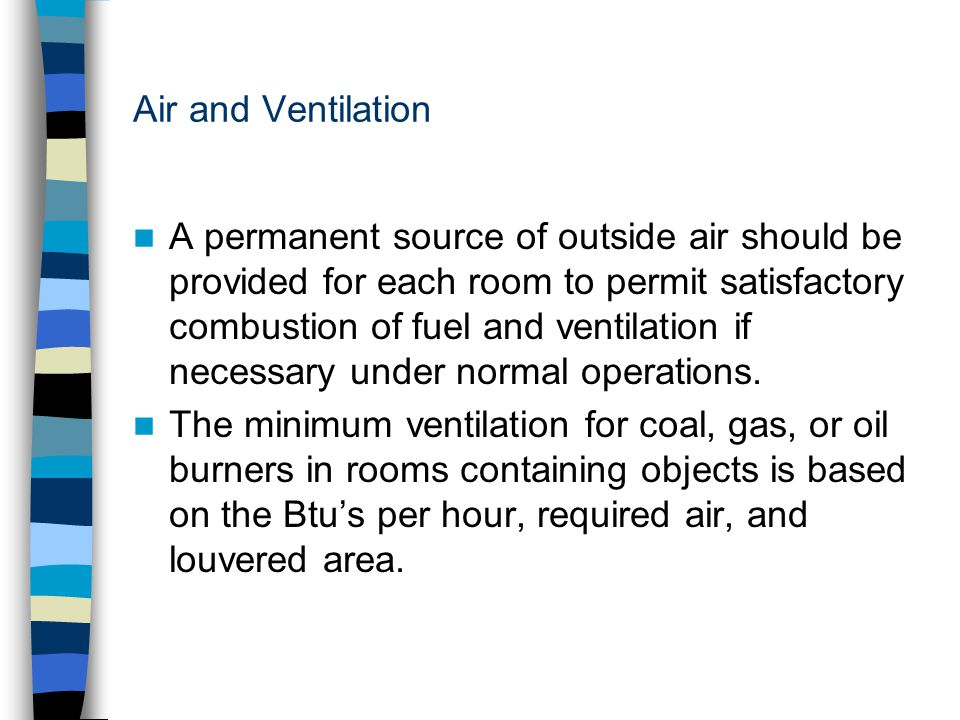 Air and Ventilation