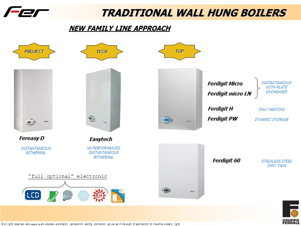 TRADITIONAL WALL HUNG BOILERS NEW FAMILY LINE APPROACH