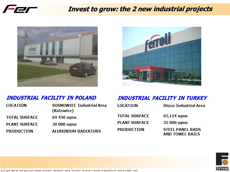 Invest to grow: the 2 new industrial projects