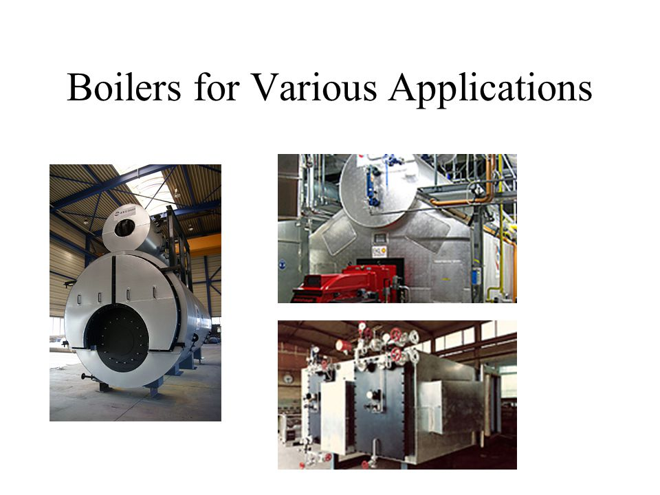 Boilers for Various Applications