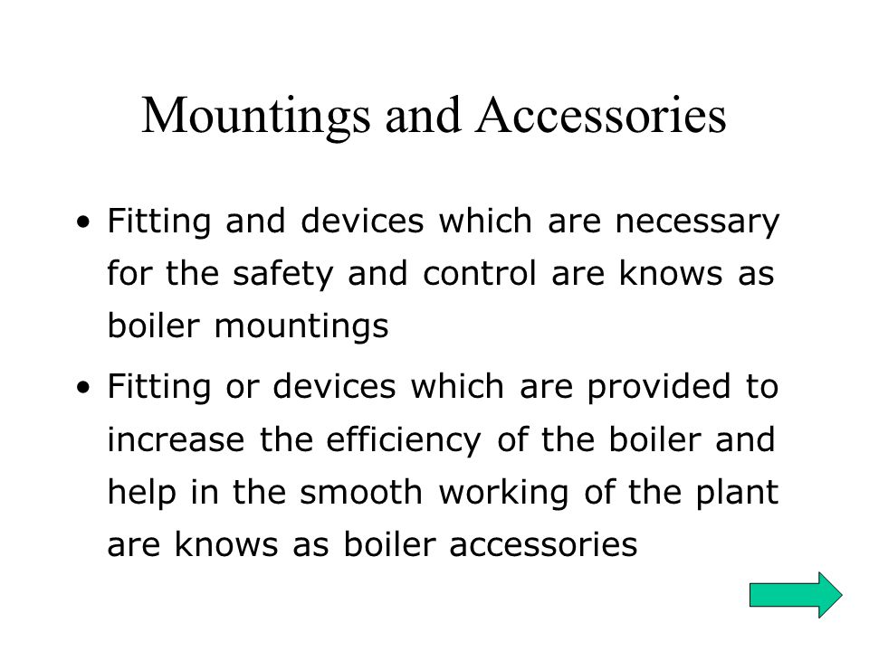 Mountings and Accessories