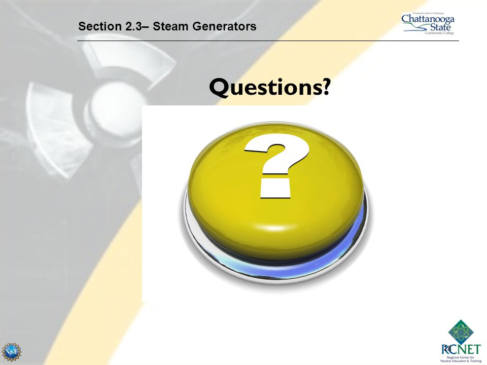 Section 2.3– Steam Generators