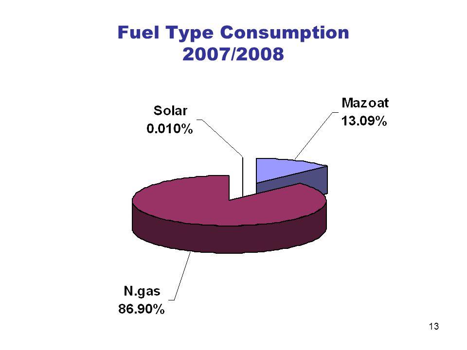 Fuel Type Consumption 2007/2008