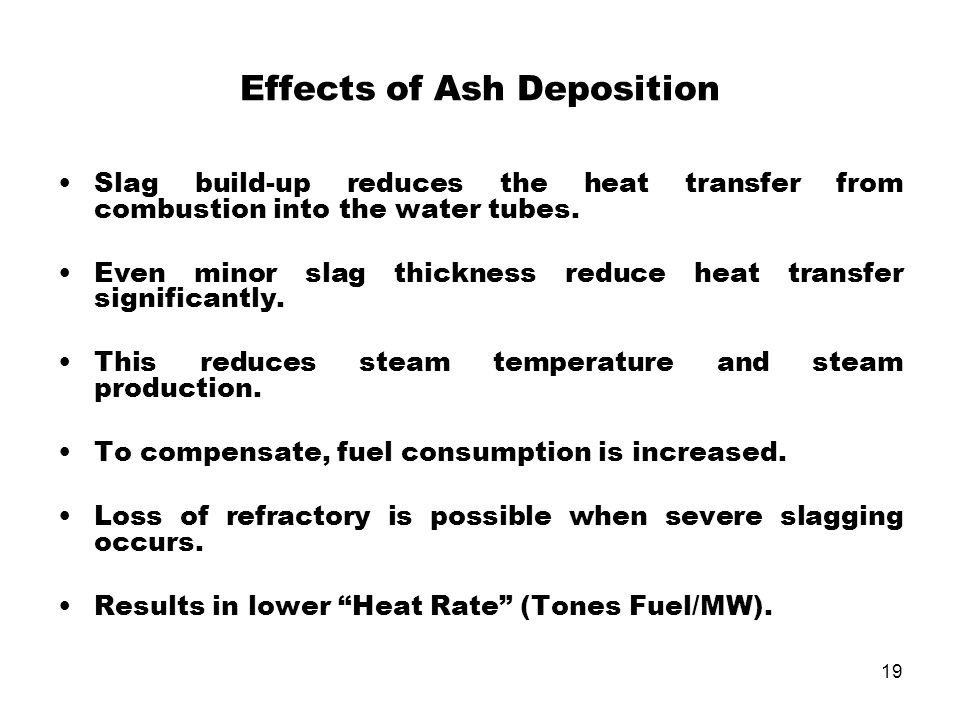 Effects of Ash Deposition
