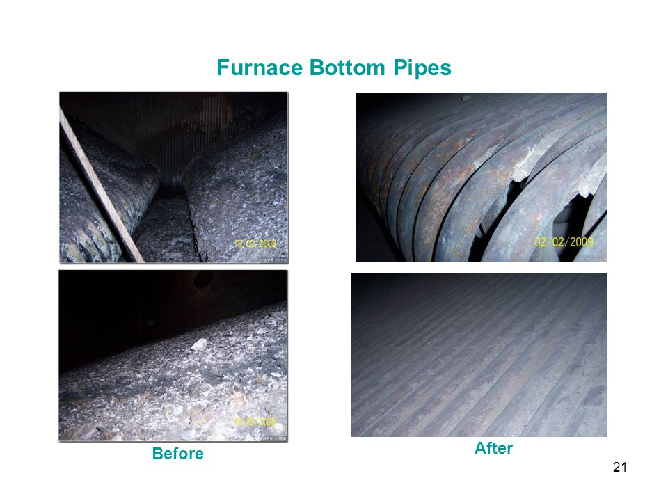 Furnace Bottom Pipes After Before