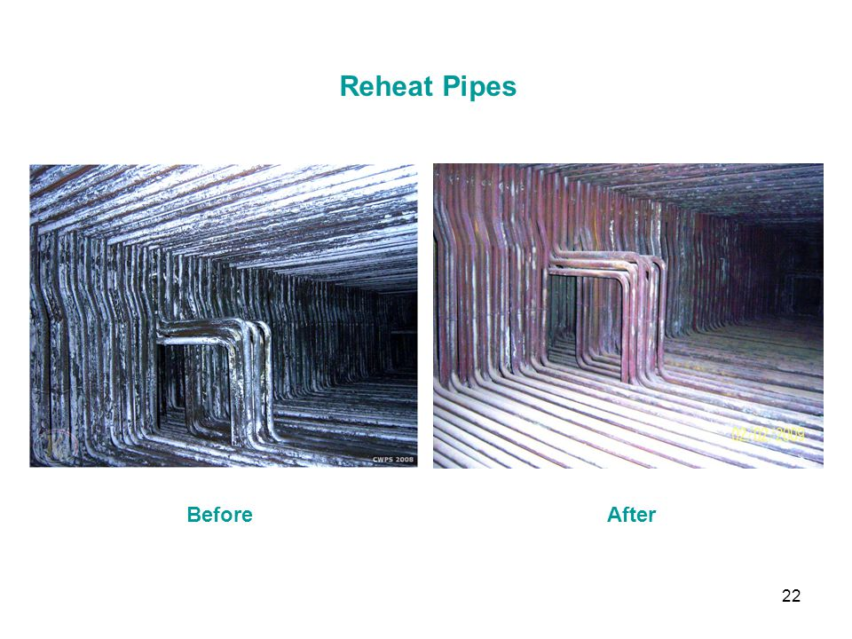 Reheat Pipes Before After