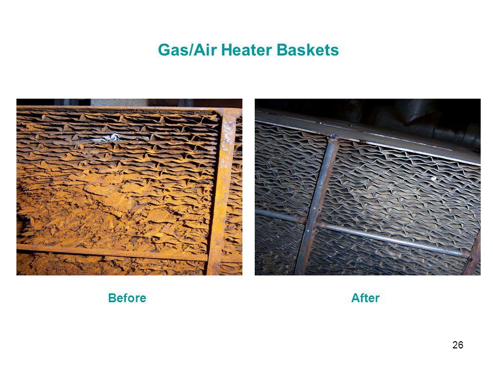 Gas/Air Heater Baskets