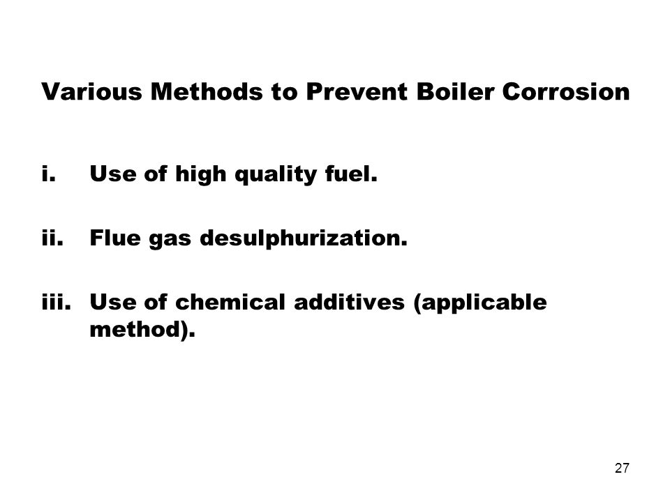 Various Methods to Prevent Boiler Corrosion