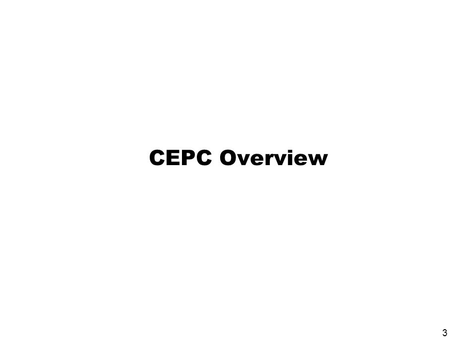 CEPC Overview