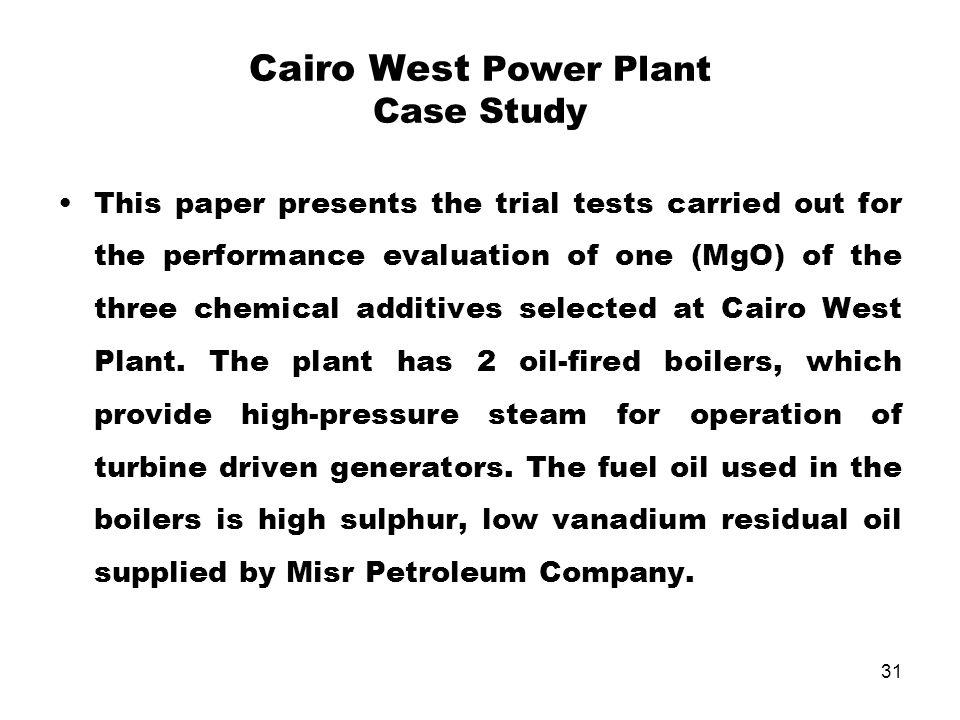 Cairo West Power Plant Case Study