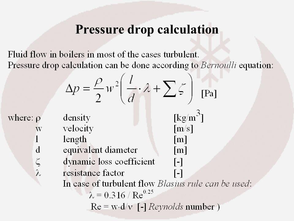 Pressure drop calculation