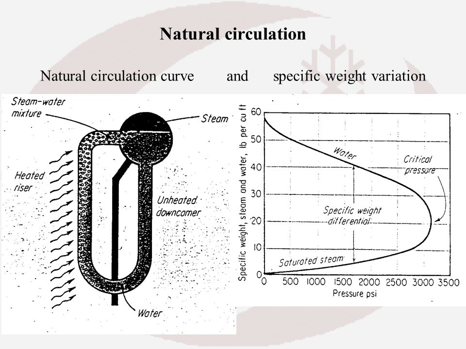 Natural circulation Natural circulation curve. and
