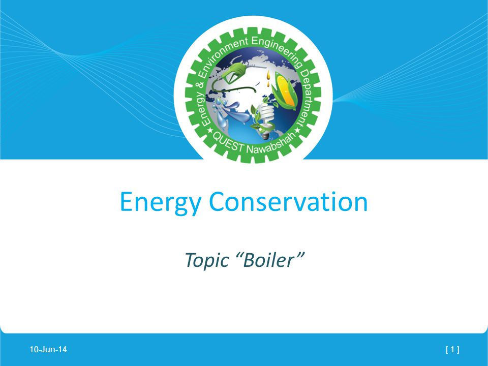 Lecture Notes - Energy Conservation Topic Boiler