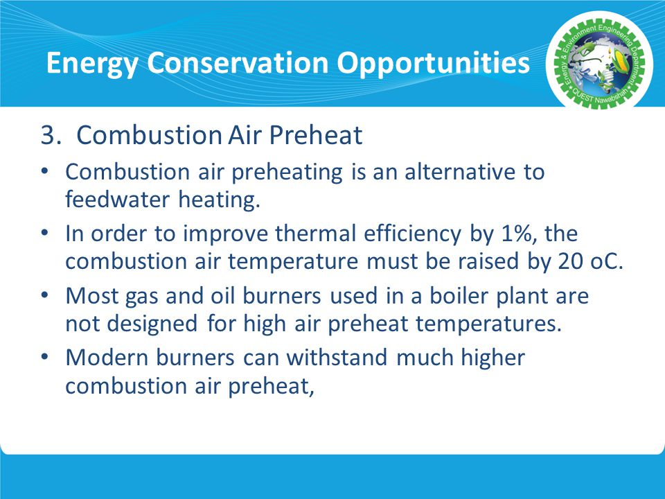 Energy Conservation Opportunities