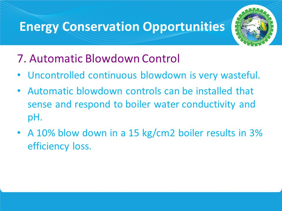 "Boiler Water Conductivity ~ Lecture notes energy conservation topic ""boiler ppt"