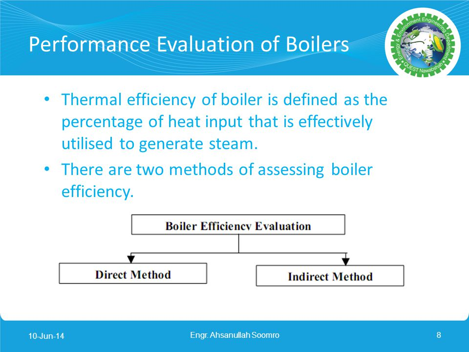 Performance Evaluation of Boilers
