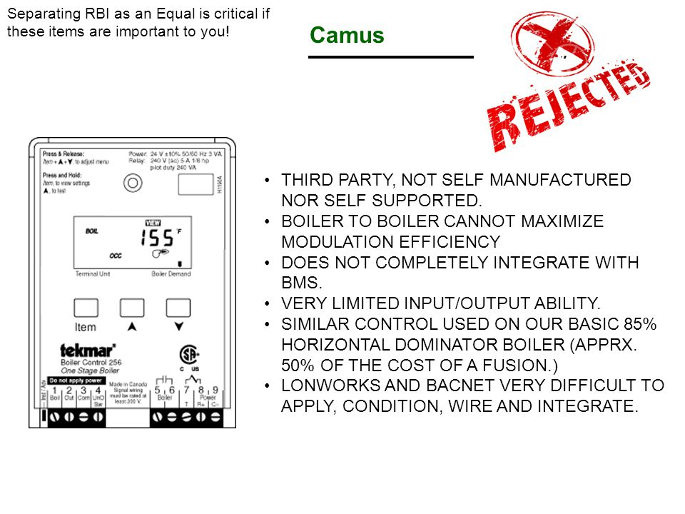 Camus THIRD PARTY, NOT SELF MANUFACTURED NOR SELF SUPPORTED.