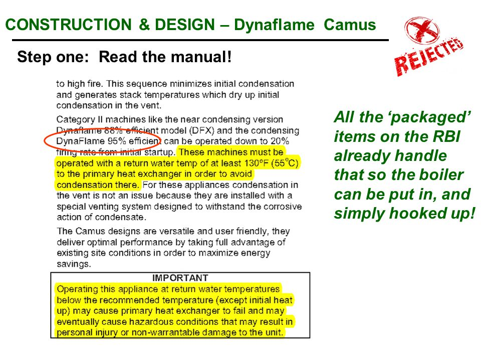 CONSTRUCTION & DESIGN – Dynaflame Camus