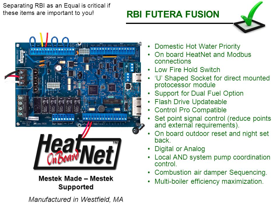RBI FUTERA FUSION Domestic Hot Water Priority