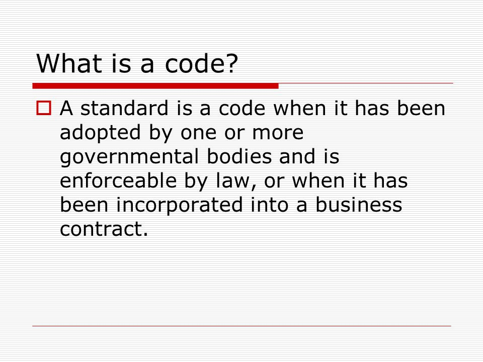 What is a code