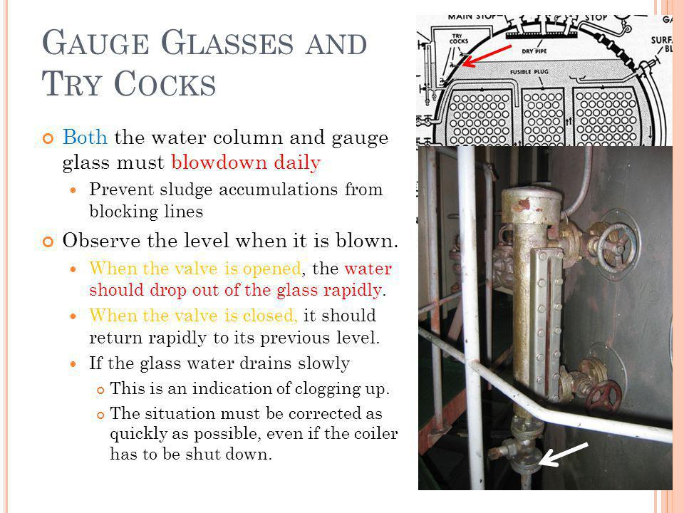 Gauge Glasses and Try Cocks