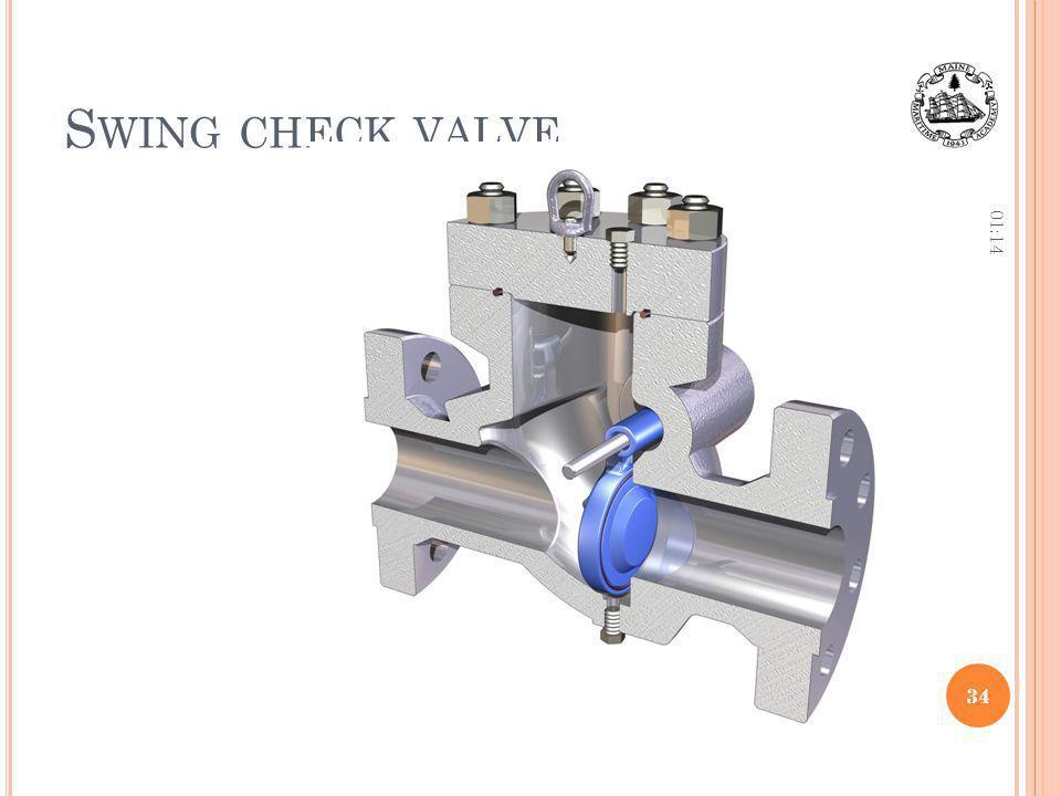 Swing check valve 12:36