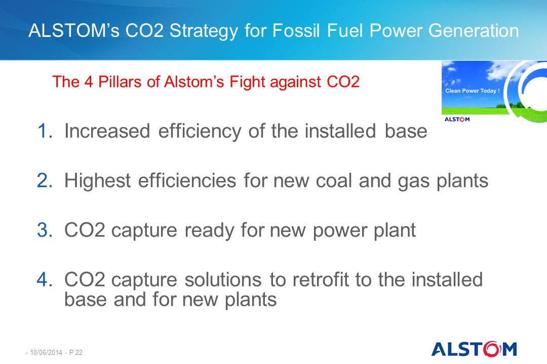 ALSTOM's CO2 Strategy for Fossil Fuel Power Generation