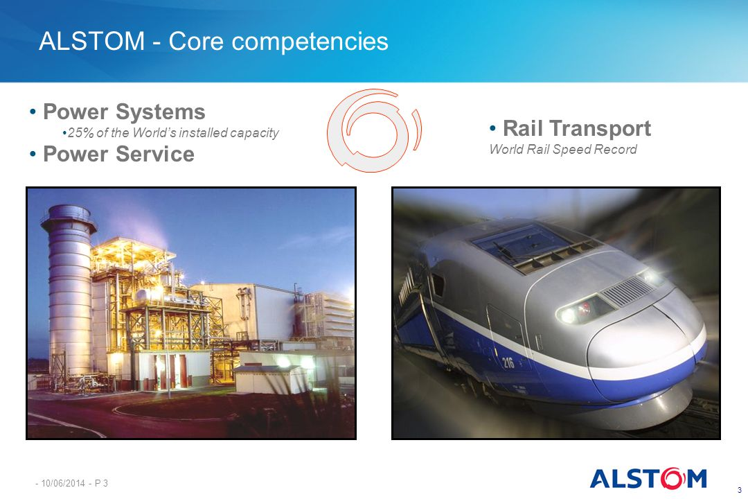 ALSTOM - Core competencies