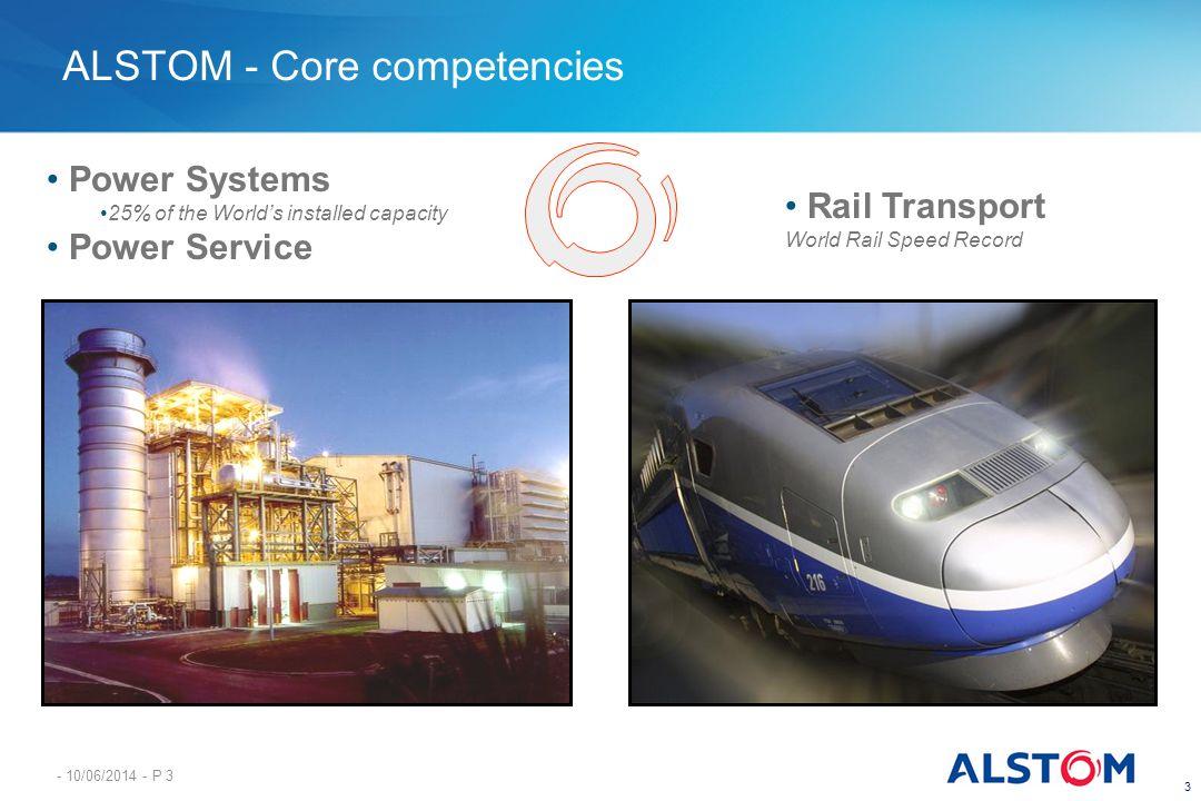 ALSTOM - Core competencies