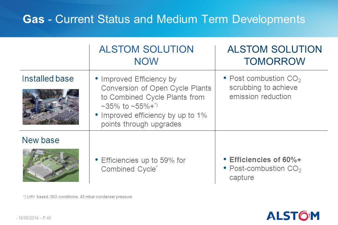 Gas - Current Status and Medium Term Developments