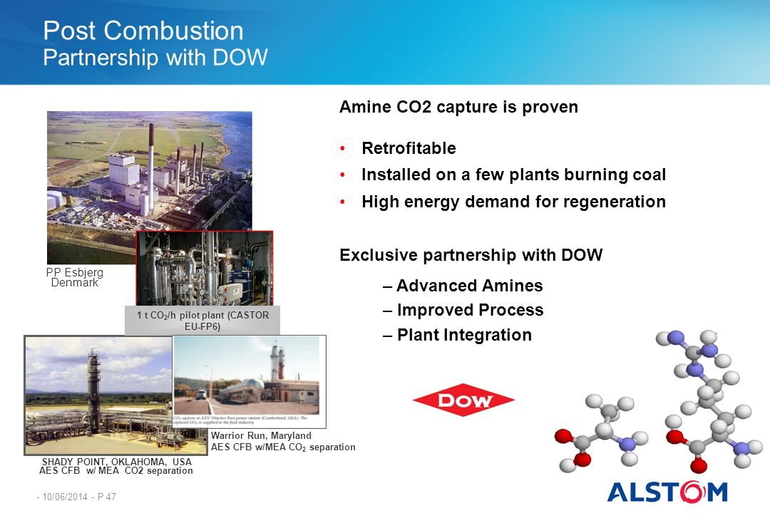 Post Combustion Partnership with DOW
