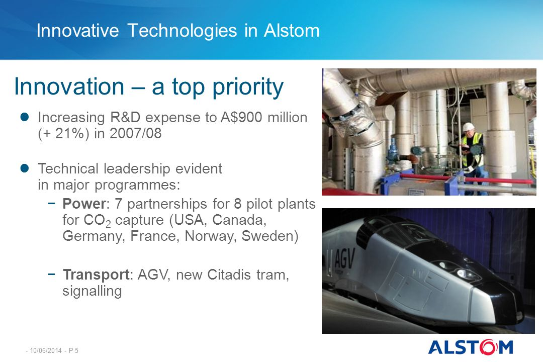Innovative Technologies in Alstom