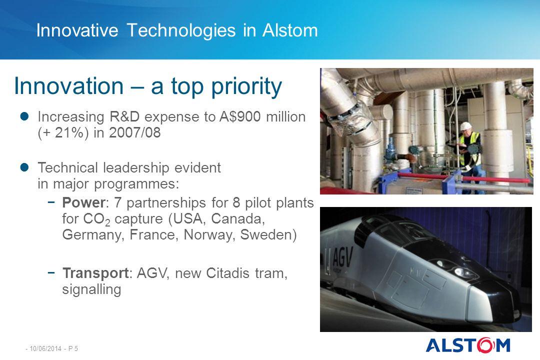 Innovative Technologies in Alstom