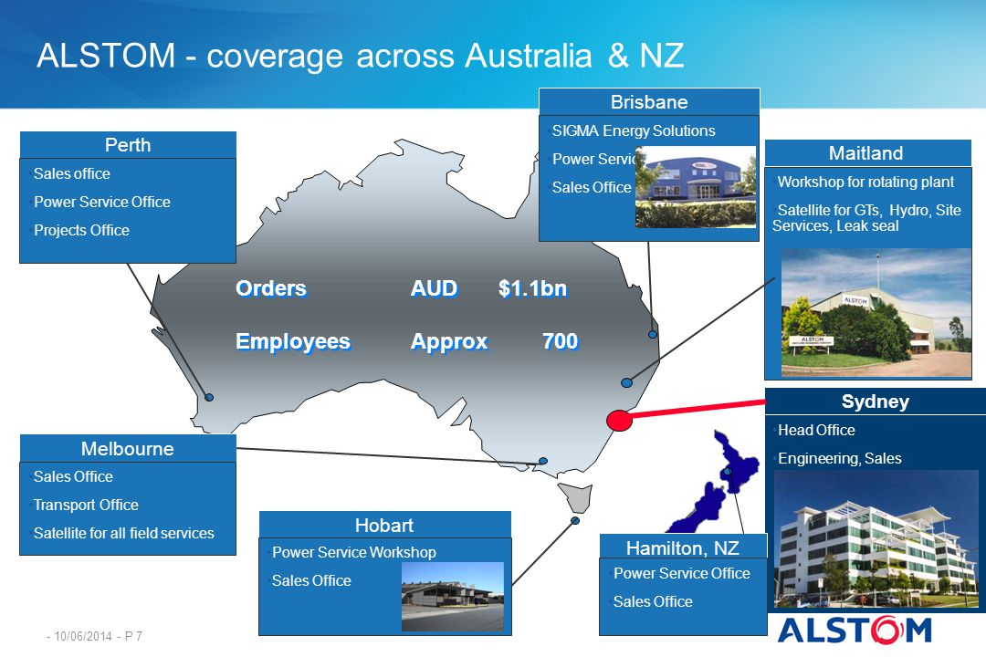 ALSTOM - coverage across Australia & NZ