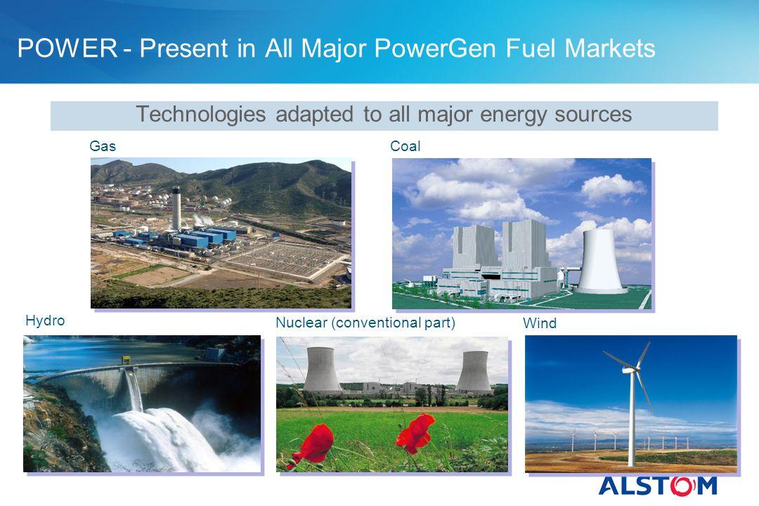 POWER - Present in All Major PowerGen Fuel Markets