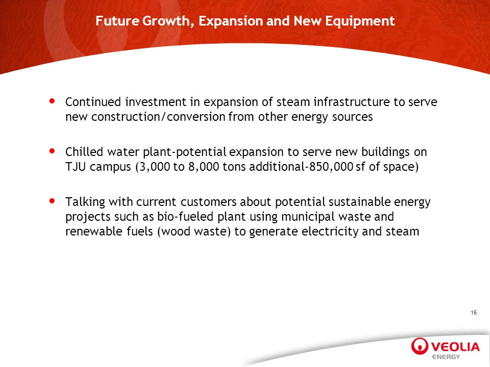 Future Growth, Expansion and New Equipment