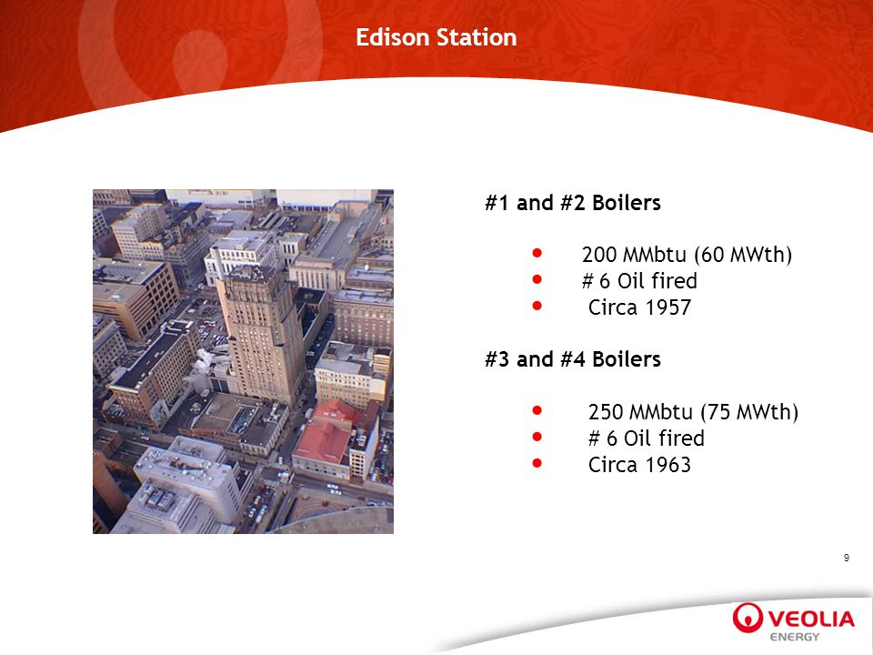Edison Station #1 and #2 Boilers 200 MMbtu (60 MWth) # 6 Oil fired