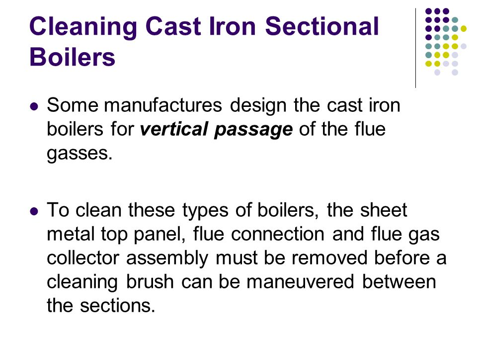 Cleaning Cast Iron Sectional Boilers