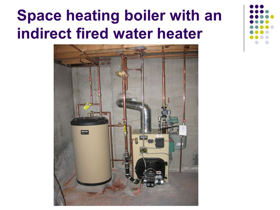Space heating boiler with an indirect fired water heater