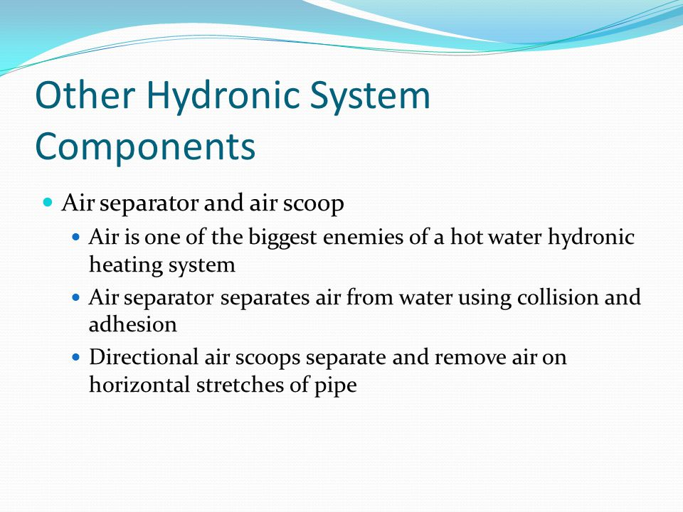 Other Hydronic System Components