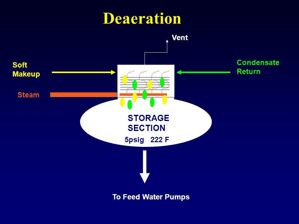 Deaeration STORAGE SECTION Vent Condensate Soft Return Makeup Steam