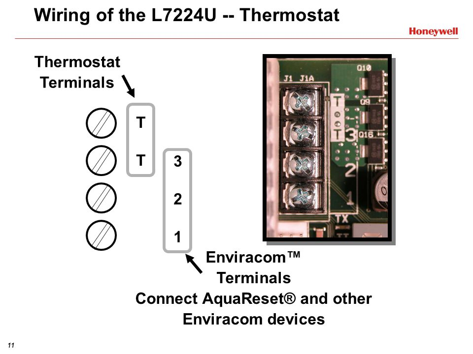 Wiring+of+the+L7224U+ +Thermostat universal electronic aquastat� l7224u1002 training module ppt Honeywell Aquastat at fashall.co