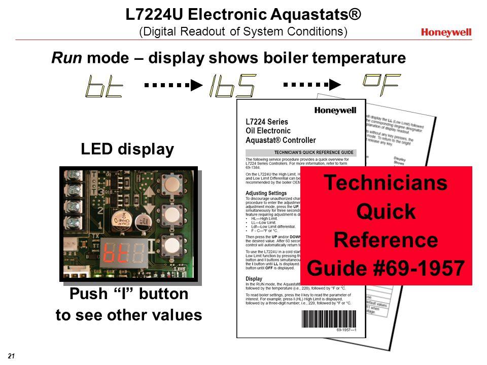 L7224U Electronic Aquastats® (Digital Readout of System Conditions)