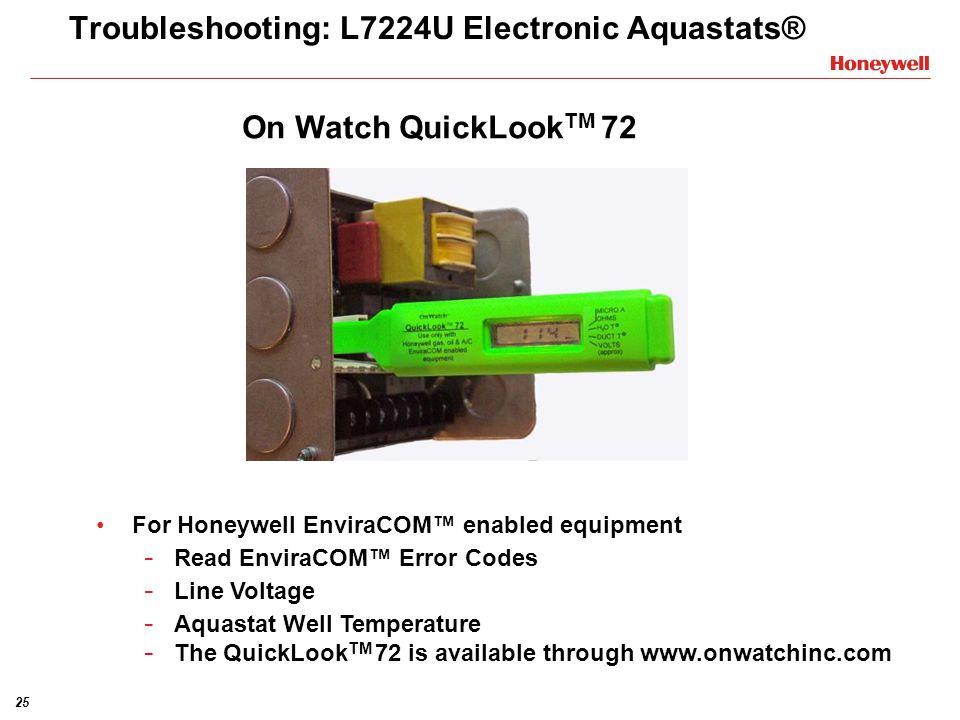 Troubleshooting: L7224U Electronic Aquastats®