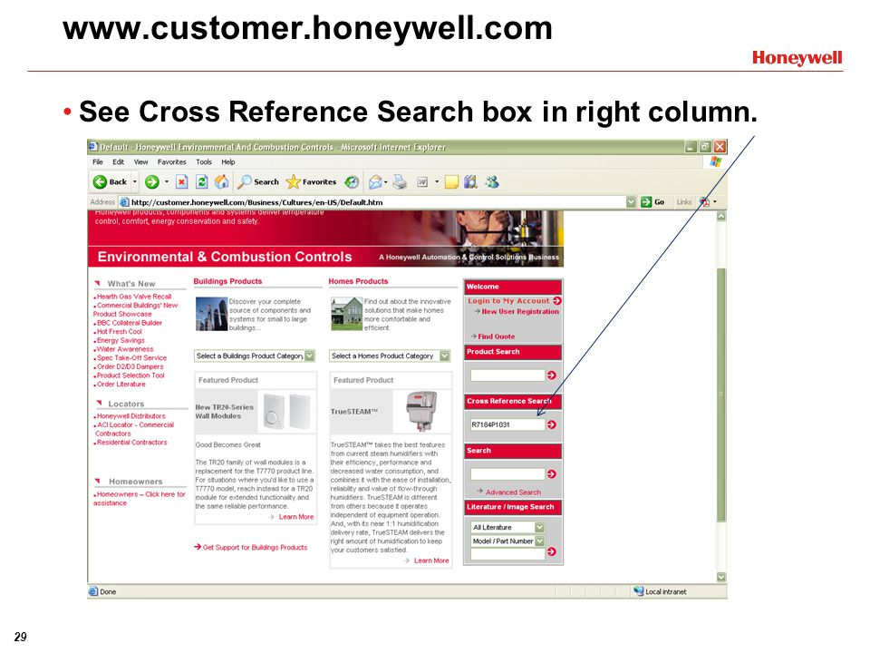 www.customer.honeywell.com See Cross Reference Search box in right column.